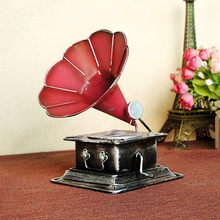 Retro Phonograph record machine Model Nostalgia Handicraft Home Desk Decor furnishing articles Photo Props(China)