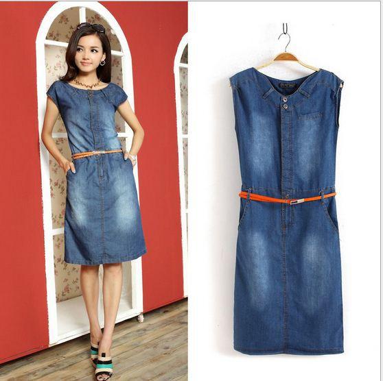 Как сшить платье своими руками из джинсовой ткани 105