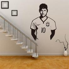 New Sports Football Stars Neymar Wallpaper Vinly 3D Wall Sticker For Kids Rooms Adesivo De Pared Wall Art Decal Barcelona Poster