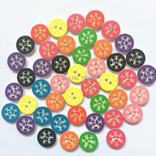 500pcs Mixed Snowflake Design Round Resin Buttons 13mm 2 Holes Sewing Baby Buttons Garment Accessory