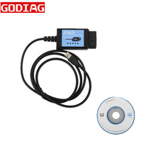 USB ELM327 V1.4 Пластик OBDII EOBD сканер шины CAN с FT232RL Chip ELM 327 OBD2 USB V2.1(China)