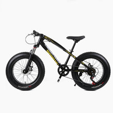 20 inch beach snow bike large rough width 4.0 tires men and women adult students folding variable mountain bike Russian shipping