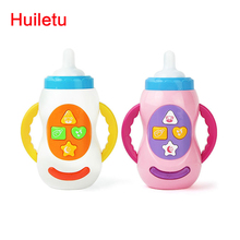 Milk bottle learning toy / baby toys with sound and light / child musical feeding bottle / Educational toy / kids gift 6613-6(China)