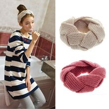 Women's Crochet Twist Knitted Head Wrap Headband Autumn Winter Ear Warmer Hair Band Girl Soft Braid