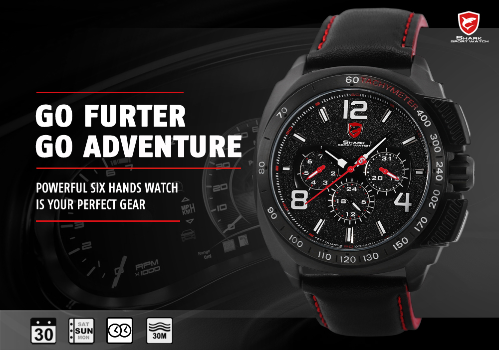 HTB1Hd19RFXXXXb0XpXXq6xXFXXXW - Tiger Shark 3rd Generation Sport Watch - Red SH417
