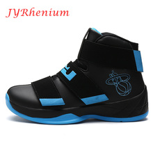 JYRhenium Mens's Antiskid Breathable Sports Shoes 2017 High Top Basketball Shoes Males Athletic Shoes Wholesale Retail Plus Size