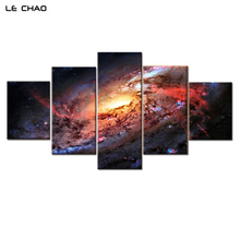LE CHAO Canvas Painting Milky Way Wall Pictures For Living Room Home Decor Posters And Prints Modern Wall Art Frameless Mirrors