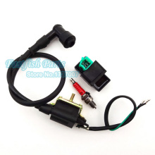 Racing Ignition Coil & 5 pin AC CDI & A7TC Spark Plug For 50cc 70cc 90cc 110cc ATV Quad Pit Dirt Bike