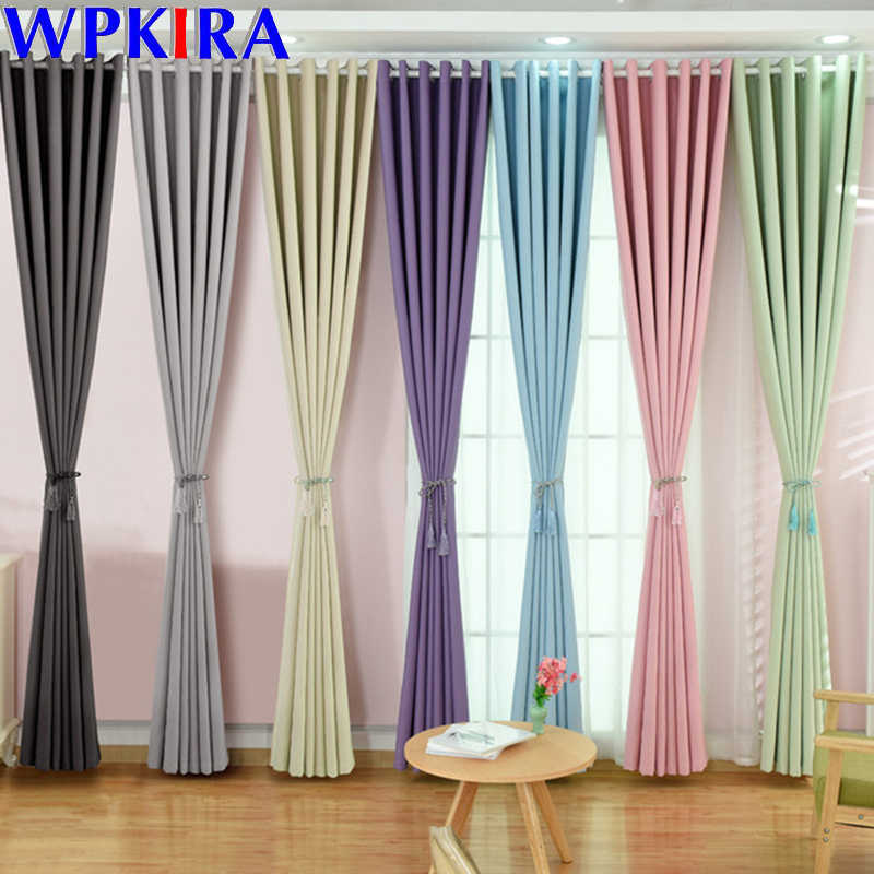 Modern Blackout Curtains For Living Room Window Curtains For Bedroom Curtain Fabrics Ready Made Finished Drapes Blinds WP092-30