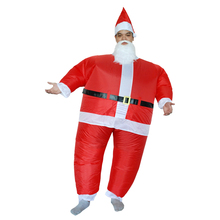 Halloween Costume for Women Inflatable Father Christmas Costume Adult Christmas Cosplay Santa Claus