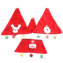 5 Styles Cute Children Adult Lovely Christmas Hat Santa Claus Happy Hats Caps(China)