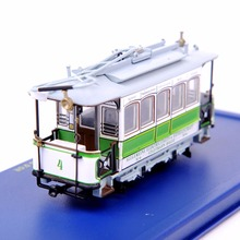 1/87 Scale Diecast Bus Car Model Toys New Tram  LE CRABE AUX PINCES D'OR Car Model Kids Toys Collections