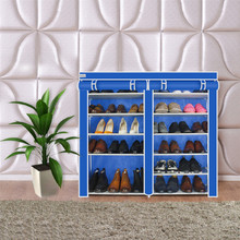 Finether Double Non-Woven Fabric Shoe Rack Stand Shelf Shoes Shoe storage hanging Shoe Rack Organizer Shelf furniture Cabinet