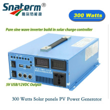 300 Watts DC 12V 24V 20A 10A Solar panels PV Power Generator Hybrid dc to ac off-grid Power Inverter for solar power system