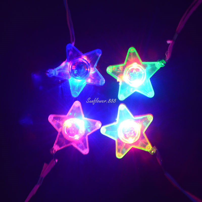 Novelty & Special Use Light Up Jelly Star Heart Led Flashing Necklace Pendants Cosplay Props For Kids Children Adult Wedding Birthday Party Gift Modern Design Costumes & Accessories