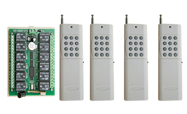 DC12V 12CH 10A RF Wireless Remote Control Switch System Transmitter+Receiver,315/433 MHZ /lamp/ window/Garage Doors<br>