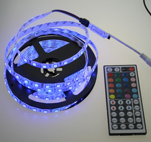 L15 IR Mini44Key Controller + 5m 5050 DC12V 60LED/m RGB Flexible LED Strip set,1set/lot