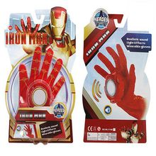 2017 New Avengers Iron Man Glove Action Figure Toys Iron Man Emitter Flash Sound Cosplay Toys For Children Gifts Original box(China)
