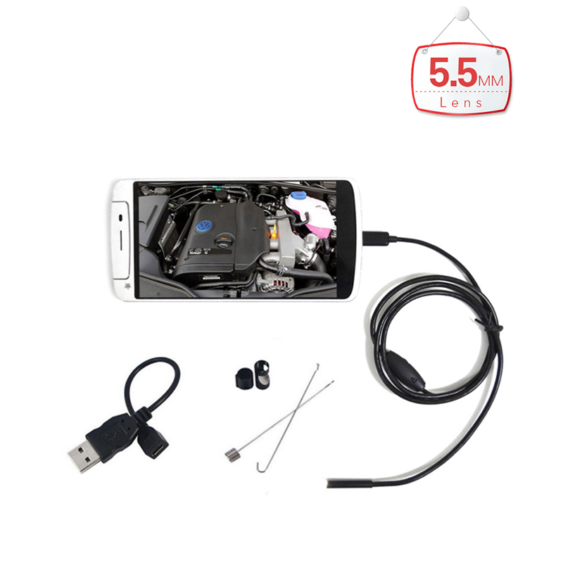 5.5mm Lens 6LED PC Android Endoscope with 1m 1.5m 2m 3.5m 5m Length Cable Android USB Endoscopy Android PC Inspection Borescope<br><br>Aliexpress