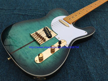 China Guitar Custom Shop TL Electric Guitar Merle Haggard Signature Tuff Dog Excellent Quality Green color Free Shipping(China)