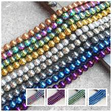 Natural Hematite 2-12mm Round Ball Beads 16''  9Colors,For DIYJewelry making!We provide mixed wholesale for all items !