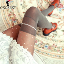 Buy Autumn gray Retro Dot bow sexy pantyhose Women stockings Thin Mesh stockings lace hollow sexy tights pantyhose women 073