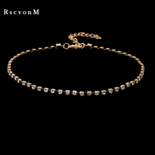 Crystal Choker gold color silver color Necklace Rhinestone Pendant Jewelry Collar Necklace for women Rhinestone Choker Necklace