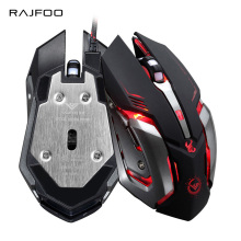 RAJFOO Gaming Mouse Ajustable 3200DPI 6 Buttons Optical Macro Programming USB Game Mouse Gamer 3 Color Breathing Variable Lights(China)