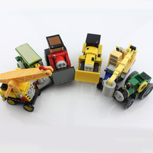 6pcs lot Kids Thomas and friends trains special trunks crane roller bulldozer tram caterpillar die cast Magnetic metal  toys