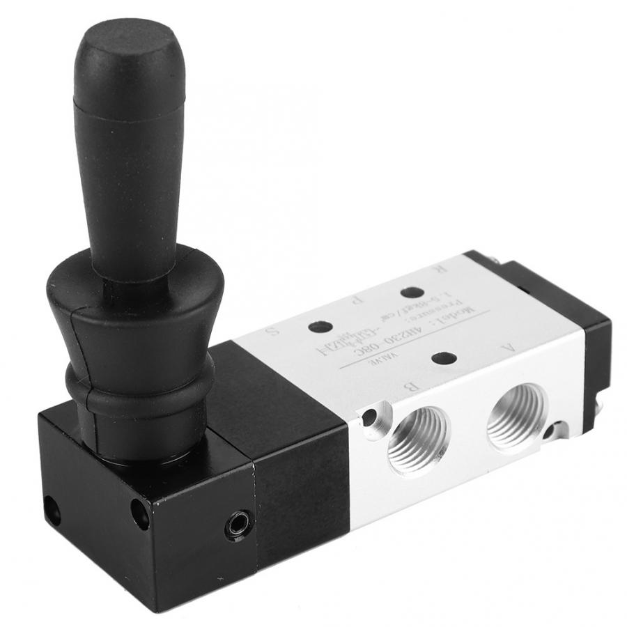 4H210-08 Electric Solenoid Valve,PT1//4 Pneumatic Valve,5 Port 2 Position Pneumatic Electric Solenoid Valve Hand Lever Valve,High Hardness and Corrosion Resistance,for Industrial Control Systems.