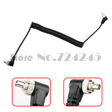 Camera cable Male to Male M-M FLASH Stutio PC line Sync Cable Cord with Screw Lock PC-PC for Canon nikon yongnuo flash light