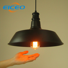 (EICEO)Vintage Wrought iron Lighting Restaurant Shade Lamp Manufacturers Wholesale Droplight Pendant lamps led bulbs(China)