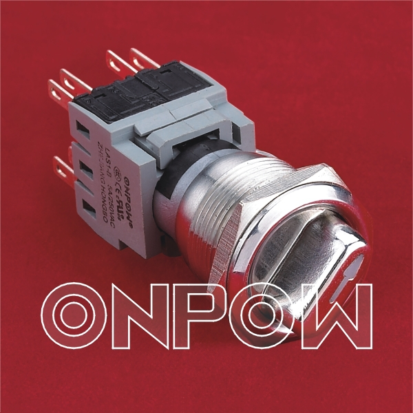 ONPOW 3 Position pushbutton LAS1-BGQ-22X/33  (CE, ROHS)<br><br>Aliexpress