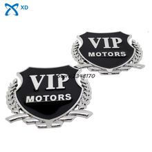 VIP For BMW Benz Ford Chevrolet Honda Nissan Audi Mazda Citroen Decoration Car Styling Badge Emblem 3D Alloy Car Side Stickers