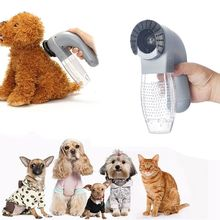 1pc Electric Pet Dog Cat Hair Vacuum Cleaner Canister Remover Groomer Clothes Fur Collection Pet Puppy Hair Beauty Accessories