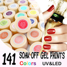 #516-534 CANNI Soak off painting gel 5 ml Pure Colors Solid LED/UV Gel For Nail Design paint Color Gel nail varnish(China)