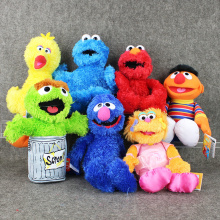 Sesame Street Elmo/BIG BIRD /COOKIE MONSTER /BERT /ERNIE/OSCAR THE GROUCH/ZOE/GROVER Stuffed Plush Toy Dolls Kids Birthday Gift(China)