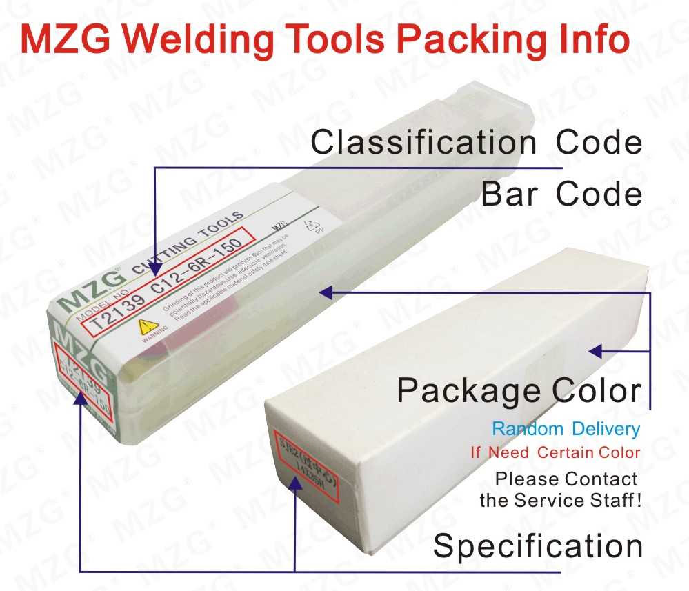 MZG Welding Tools Packing Info