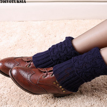 TOIVOTUKSIA Knit Leg Warmers for Women Crochet Gaiters Patterned Boots Leg Warmers Knee Socks(China)