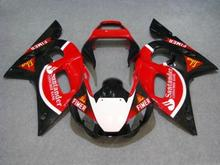 Motorcycle Fairing kit for YAMAHA YZFR6 98 99 00 01 02 YZF R6 YZF600 1998 2000 2002 ABS red black Fairings set+7gifts YD36
