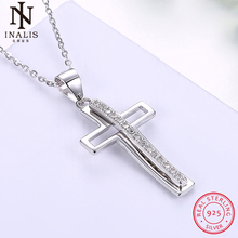INALIS 925 Sterling Silver Necklace Europe And America Selling Section Cross Necklace For Women Girl Female Jewelry Wedding Gift(China)