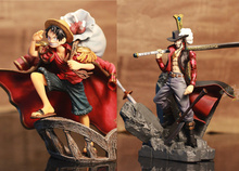 NEW 1pcs 15cm pvc Japanese anime figure one piece luffy/Dracule Mihawk action figure collectible model toys brinquedos(China)