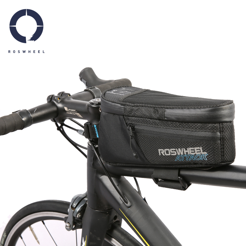 Bike Front Tube Bag 7 Inch High Capacity Waterproof Nylon Frame Pack Pannier