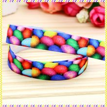 5/8'' Free shipping Elastic FOE easter printed headband headwear hair band diy decoration wholesale OEM P3663(China)