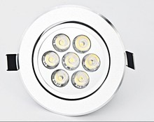 7X2W High Power 14W LED Downlight 850lm AC85V~265V Warm White / Cool White CE&ROHS Free Shipping / China Post(China)