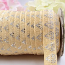 16608-10, 5/8'' 16MM hot Silver print diamond Elasticity ribbon , 5 yards DIY handmade hair accessories Material , free shipping(China)