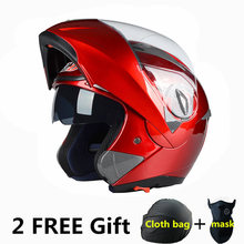 New Flip Up Racing helmet Modular Dual lens Motorcycle Helmet full face Safe helmets Casco capacete casque moto M L XL XXL