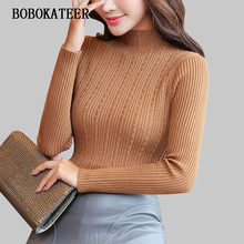 BOBOKATEER para mujeres Jersey 2018 mujeres suéteres de moda slim casual pullover  pull femme hiver sueter mujer 7b9b8a1afad1