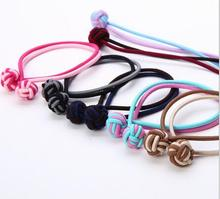 Free Shipping!20pcs/lot New braid knit weave cord Headband women Girl Hair Ties Rope Bands Chinese knot Hair Accessories(China)