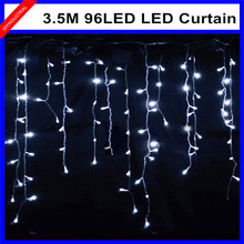 3.5M 96LED Icicle string Light Christmas Wedding Xmas party Decoration Snowing curtain light female/male connector 220V-Colorful - JXY INDUSTRIAL Store store